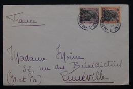 SARRE - Enveloppe Pour Lunéville En 1920 , Affranchissement Plaisant -  L 21045 - 1920-35 League Of Nations