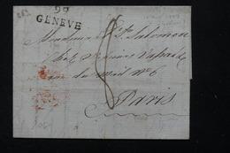 FRANCE - Marque Postale 99 Geneve Sur Lettre Pour Paris -  L 21046 - 1792-1815: Conquered Departments
