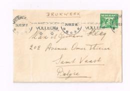 Lettre De Amsterdam à Saint-Vaast.( Belgique) - Brieven En Documenten