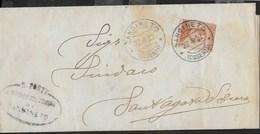 STORIA POSTALE REGNO - ANNULLO DC SANGINETO/(COSENZA) 22.04.1922 SU FASCETTA PER S.AGATA D'ESAURO - 1900-44 Vittorio Emanuele III