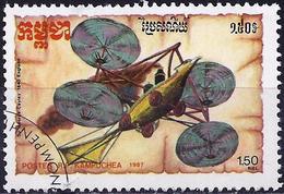 "Kampuchea 1987 - Sir George Cayley's ""convertiplane"" ( Mi 879 - YT 748 ) - Kampuchea"