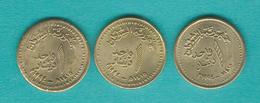 Sudan - AH1415 (1994) - 1 Dinar - Shaded Varieties - 5 & 11 Oblique Lines - KM112 - Soudan