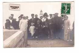 76 Dieppe Cpa Carte Photo Groupe De Personnes Devant Le Phare Cachet 1912 - Dieppe