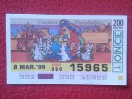 SPAIN DÉCIMO CUPÓN DE ONCE LOTERÍA LOTTERY LOTERIE RABBIT LAPIN LIÈVRE HARE HASE LIEBRE CONEJO...7 CONEJOS BLANCOS VER F - Lottery Tickets