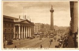 POST OFFICE  &  NELSON PILLAR  O'CONNEL STREET DUBLIN  (  TRAM ) - Dublin