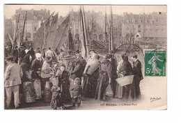 76 Dieppe L' Avant Port Cpa Carte Animée Cachet 1912 - Dieppe