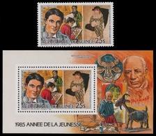 Guinea 1986 - Mi-Nr. 1089 A & Block 200 A ** - MNH - Pablo Picasso - Guinea (1958-...)