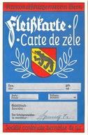 """Fleisskarte / Carte De Zèle  """"Kantonal Schützenverein Bern""""          Ca. 1960 - Diplômes & Bulletins Scolaires"""