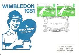 ANGLETERRE TENNIS LAWN TENNIS SUR GAZON MUSEUM MUSEE CLUB WIMBLEDON FEMME WOMEN FRAU 1981 DUNLOP TENIS - Tennis