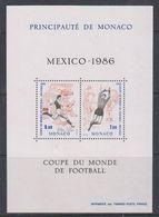 Monaco 1986 Football World Cup Mexico 1986 M/s ** Mnh (41682) - Blokken