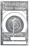 "Prämienkarte  ""Feldschützen Stalden Konolfingen""          Ca. 1960 - Diplômes & Bulletins Scolaires"