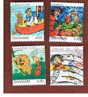 DANIMARCA (DENMARK)  -   SG 1253.1256   -  2002  DANISH CARTOONS (COMPLET SET OF 4)               -   USED ° - Usado