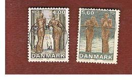 DANIMARCA (DENMARK)  -   SG 1258.1259   -  2002  NORDEN: MODERN ART (COMPLET SET OF 2)               -   USED ° - Usado