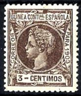 Guinea Española Nº 13 Con Charnela - Guinea Española