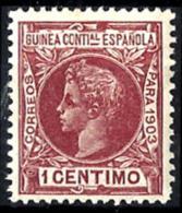 Guinea Española Nº 11 Con Charnela - Guinea Española