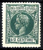 Guinea Española Nº 10 Con Charnela - Guinea Española