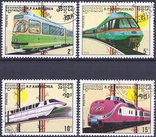 Kampuchea 1989 - Locomotives And Trains ( Mi 1007... - YT 864... ) - Kampuchea