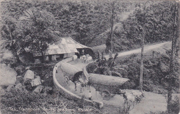 CPA CEYLON -  Tea Transport Carts Leaving Estate  - Cachet Yokohama - 1912 - Sri Lanka (Ceylon)
