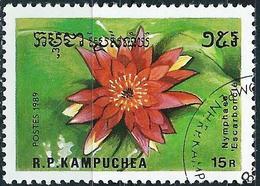Kampuchea 1989 - Aquatic Flower : Lily ( Mi 1037 - YT 863F ) - Kampuchea