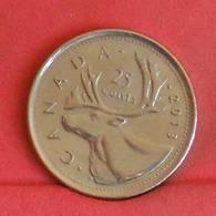 CANADA 25 CENTS 2013 -    KM# 493 - (Nº27247) - Canada