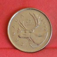 CANADA 25 CENTS 2005 -    KM# 493 - (Nº27249) - Canada