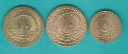 Sudan - AH1417 (1996) - 5 Dinars (KM114); 10 Dinars (KM115.1 & 115.2) - Sudan