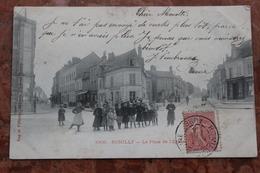 ROMILLY SUR SEINE (10) - LA PLACE DE L'EGLISE - Romilly-sur-Seine