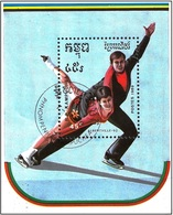 Kampuchea 1989 - Albertville Olympics : Figure Skating ( Mi Bl165 - YT Bf 68A ) - Kampuchea