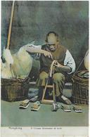 Old Colour Postcard, China, Hongkong, Chinese Shoemaker At Work. - Chine (Hong Kong)