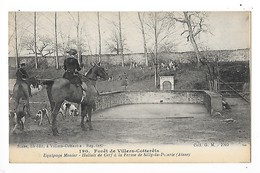 Forêt De VILLERS COTTERETS  (cpa 02)  Equipage Menier - Hallali De Cerf Ferme De Silly La Poterie   -  L 1 - Villers Cotterets