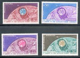 Télécommunications Spatiales 1962 / 4 Timbres Neufs ** - Poste Aérienne