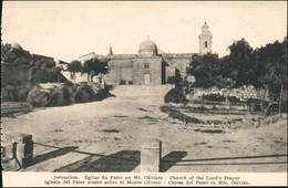 Jerusalem Jeruschalajim (רושלים) Iglesia Pater Noster Sobre Monte Olivete 1918 - Israel