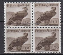 Liechtenstein 1947 Jagd II Adler/Eagle 1v Bl Of 4 ** Mnh (41683) - Liechtenstein