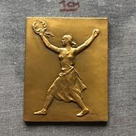 Medal Plaque (Plakette) PL000082 - Athletics Czechoslovakia International Marathon Of Liberty Kosice 1946 - Athlétisme