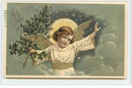 N°3635 - Anges Se Servant De Fleur Comme Téléphone - Clapsaddle - Anges