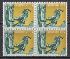 Liechtenstein 1955 Sport II / Bergsteigen 20Rp 1v Bl Of 4 ** Mnh (41683A) - Liechtenstein