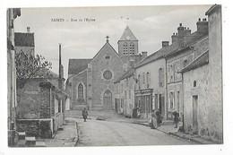 SAINTS  (cpa 77)  Rue De L'Eglise  -  L 1 - Andere Gemeenten