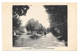 Cpa...le Cantal Pittoresque...PARLAN....le Foirail Et La Promenade..... - France