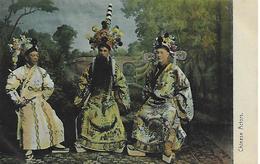 Old Colour Postcard, China, Chinese Actors. - Chine (Hong Kong)