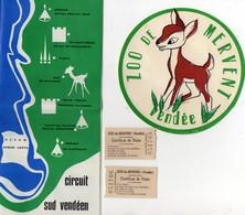Dépliant Circuit Sud Vendéen - Syndicat  D'initiative Et Certificats De Visite Du Zoo De Mervent - Autocollant - Dépliants Touristiques