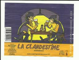 Étiquette De Bière La Clandestine - Bière