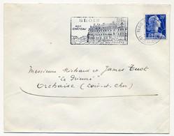 Enveloppe - OMEC Secap - BLOIS Rive Gauche (Loir Et Cher) - Son Chateau / Ses Forêts - 1957 - Oblitérations Mécaniques (flammes)