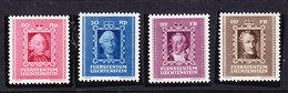 Liechtenstein 1942 Fürstenbilder II 4v ** Mnh (41683G) - Liechtenstein