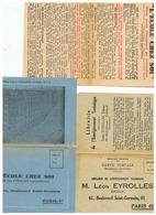 L'ECOLE CHEZ SOI  LEON  EYROLLES BOULEVARD SAINT GERMAIN  à  PARIS  5em - Diplômes & Bulletins Scolaires