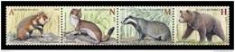 Belarus 2017 Mih. 1189/92 Fauna. Mammals. Hamster. Ermine. Badger. Bear MNH ** - Belarus