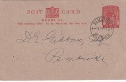 BERMUDES 1948   ENTIER POSTAL/GANZSACHE/POSTAL STATIONERY CARTE REPIQUAGE PRIVE DE HAMILTON - Bermudes