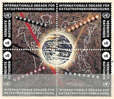 [811916]ONU-Vienne 1994 - N° 270/73, Planisphère Et Terre, Protection De La Planète, BD4 Formant Un Sujet Unique, VORSOR - Centre International De Vienne