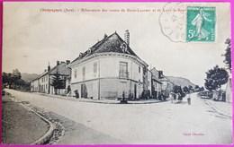 Cpa Champagnole Bifurcation Des Routes De Saint Laurent Et Lons Le Saunier Carte Postale 39 Jura Tirage Très Rare St - Champagnole