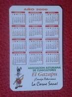CALENDARIO DE BOLSILLO CALENDAR RABBIT LAPIN LIÈVRE HARE HASE LIEBRE CONEJO RABBITS CONEJOS CUNICULTORES EL GAZAPU SPAIN - Calendarios