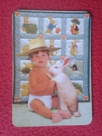 CALENDARIO DE BOLSILLO CALENDAR RABBIT LAPIN LIÈVRE HARE HASE LIEBRE CONEJO RABBITS CONEJOS NIÑO CON BOY WITH CHILD VER - Tamaño Pequeño : 2001-...
